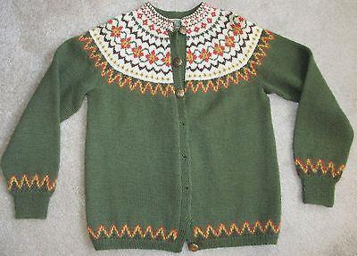 Vtg Handmade Norwegian Sweater by Sundt of Bergen Norway Wmns SM | eBay