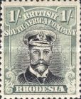 British South Africa Company, 1.9.1913, King George V., No.135, 1Sh greenisch blue/black. Stamped 4,39 USD. Unused 8,78 USD.