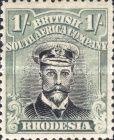 British South Africa Company, 1.9.1913, King George V., No.135, 1Sh greenisch blue/black. Stamped 4,39 USD. Unused 8,78 USD.