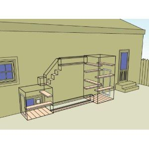 Catios wonderful design for outside enclosure! #cats #CatEnclosure