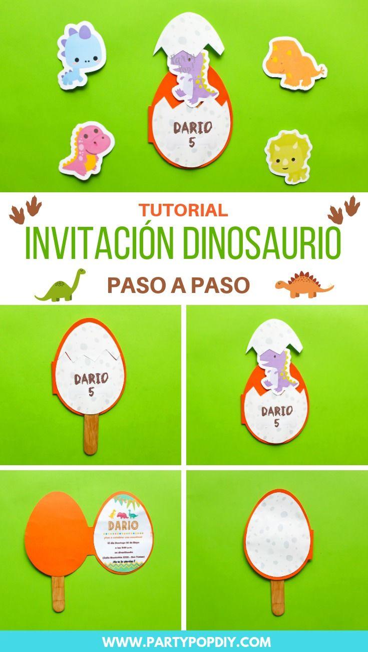 Invitación Dinosaurio Dinosaurio Printables Dino Tarjeta