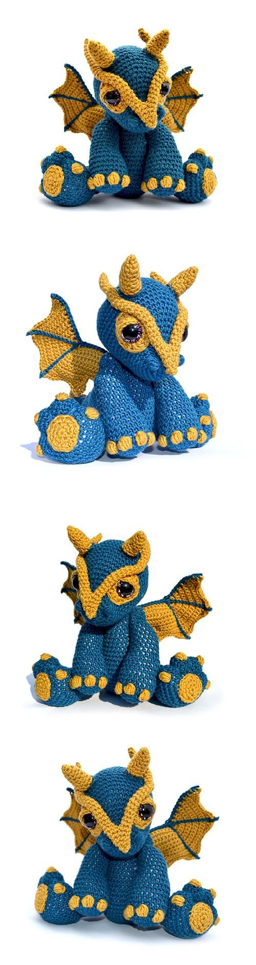 Found at Amigurumipatterns.net http://www.amigurumipatterns.net/shop/Patchwork-Moose/Clancy-the-dragon/
