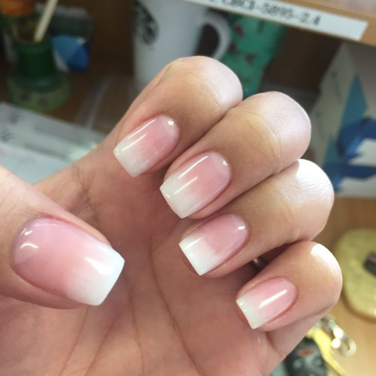 Two Tone Nail Polish Fade: Best 20+ Faded French Manicure Ideas On Pinterest