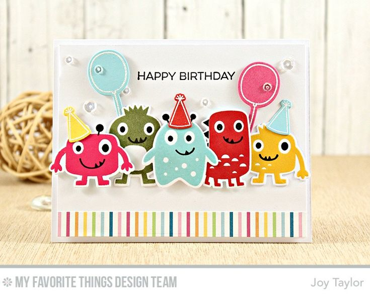 Monster Love Stamp Set and Die-namics, Beary Special Birthday Stamp Set and Die-namics, Happy Pandas Stamp Set and Die-namics - Joy Taylor  #mftstamps