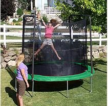 Green 10' Enclosed Trampoline - Shipping Included