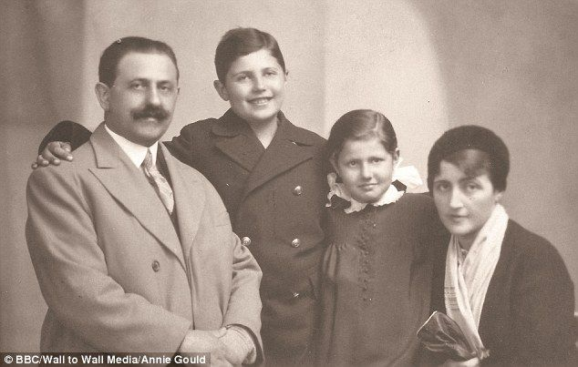 Tragic: Although Jane Seymour's great-aunt, Jadwiga (far right), survived the Holocaust, her husband Dr Herman Temerson (left) and their children Jerzy (centre left) and Hanna (centre right) were not so lucky