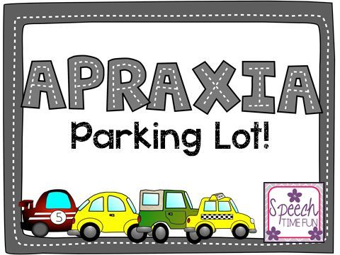 Speech Time Fun: Apraxia Parking Lot!! Pinned by SOS Inc. Resources. Follow all our boards at pinterest.com/sostherapy/ for therapy resources.