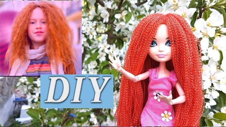 Как сделать парик для куклы из ниток. Образ Анастасии Багинской из клипа...