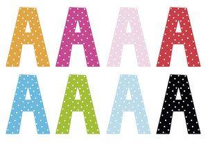 Färglada bokstäver från JaBaDaBado lyser upp alla rum. Du hittar alla bokstäver A-Ö hos www.barabokstaver.se