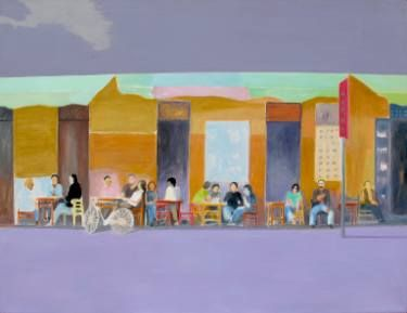 "Saatchi Art Artist Wojtek Herman; Painting, ""Cafe Alchemia"" #art"