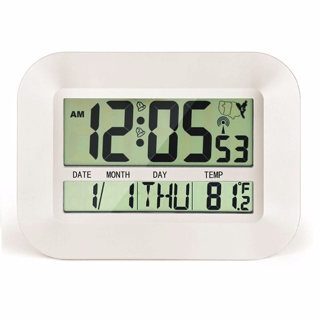 Big Number Large Lcd Digital Wall Clock Table Watch Nixie
