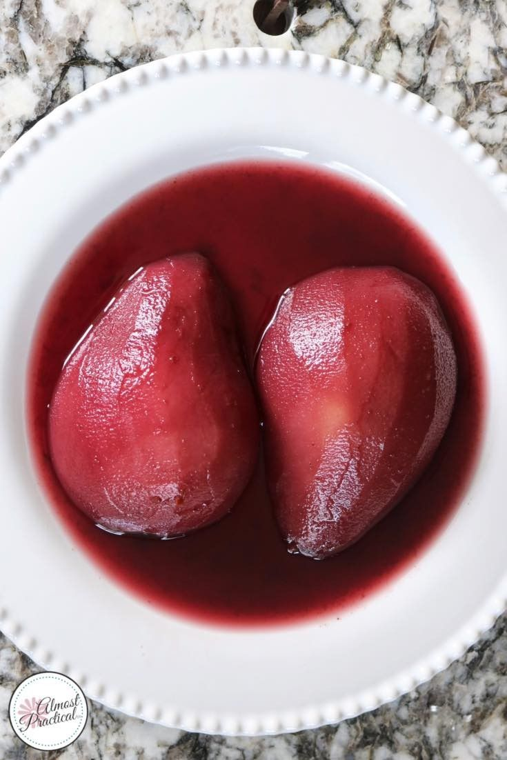 """Poached pears recipe for the Instant Pot® - an easy dessert recipe from The """"I Love My Instant Pot®"""" Recipe Book by Michelle Fagone."""