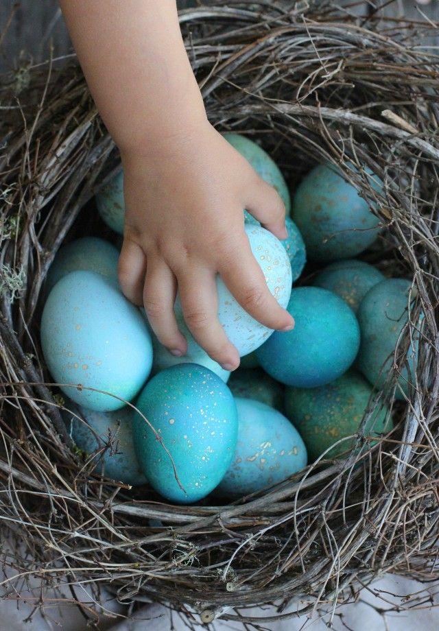 Kék-Arany tojások - DIY, Csináld magad HÚSVÉTI DEKÓ!