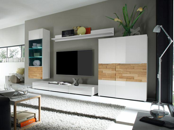 Anbauwand Modern Wohnwand : SOLITO Wohnwand  Anbauwand II weiss  Wohnzimmer  Pinterest