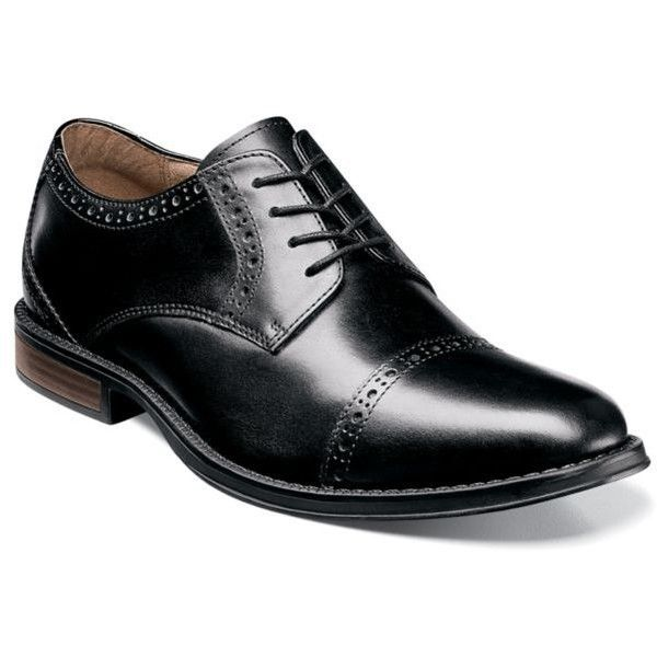 Black Wingtip Oxford Mens Shoe