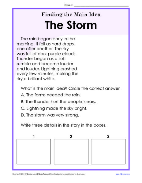 Finding The Main Idea Worksheets 3rd Grade Resources For
