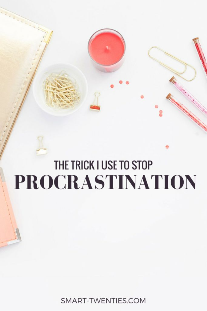Here's the simple trick I use to stop procrastinating when I'm studying