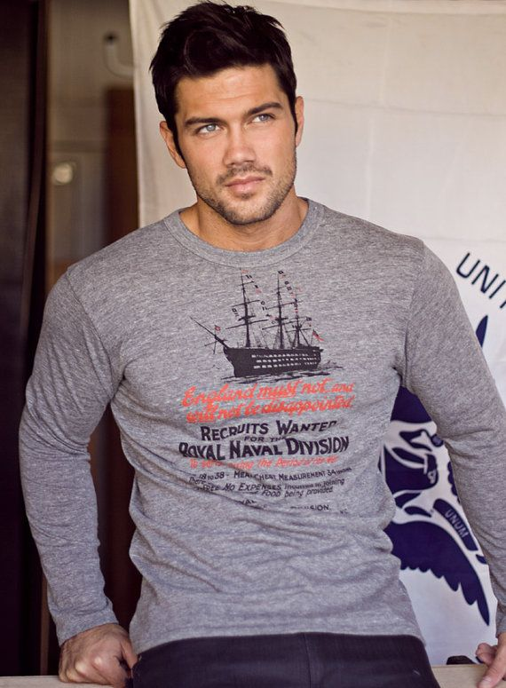 Long sleeve gray tshirt for Men. Super soft. by weareallsmith, $49.00