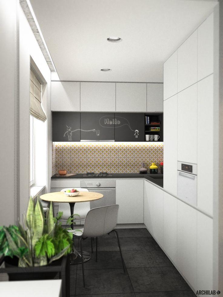 Návrh kuchyne - Interiér 2-izbového bytu, rekonštrukcia, Tokajícka ul., Bratislava - Kitchen interior by Archilab