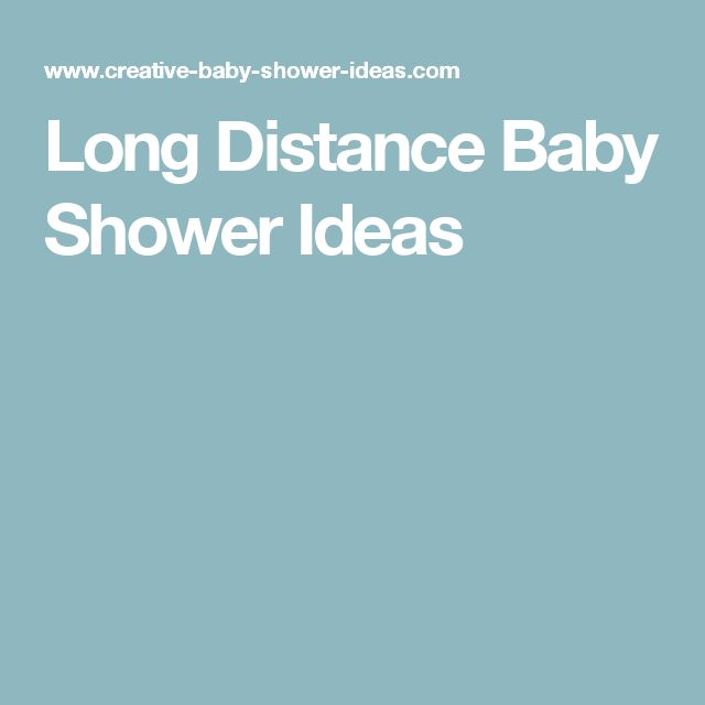 long distance baby shower ideas