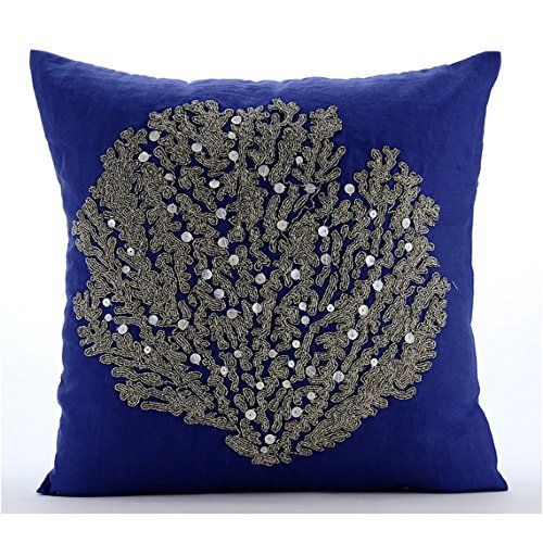 Royal Blue Cushion Covers, Beaded Sea Weeds Sea Creatures... https://www.amazon.co.uk/dp/B016H8W5J2/ref=cm_sw_r_pi_dp_x_kpMxybP3N2XFM