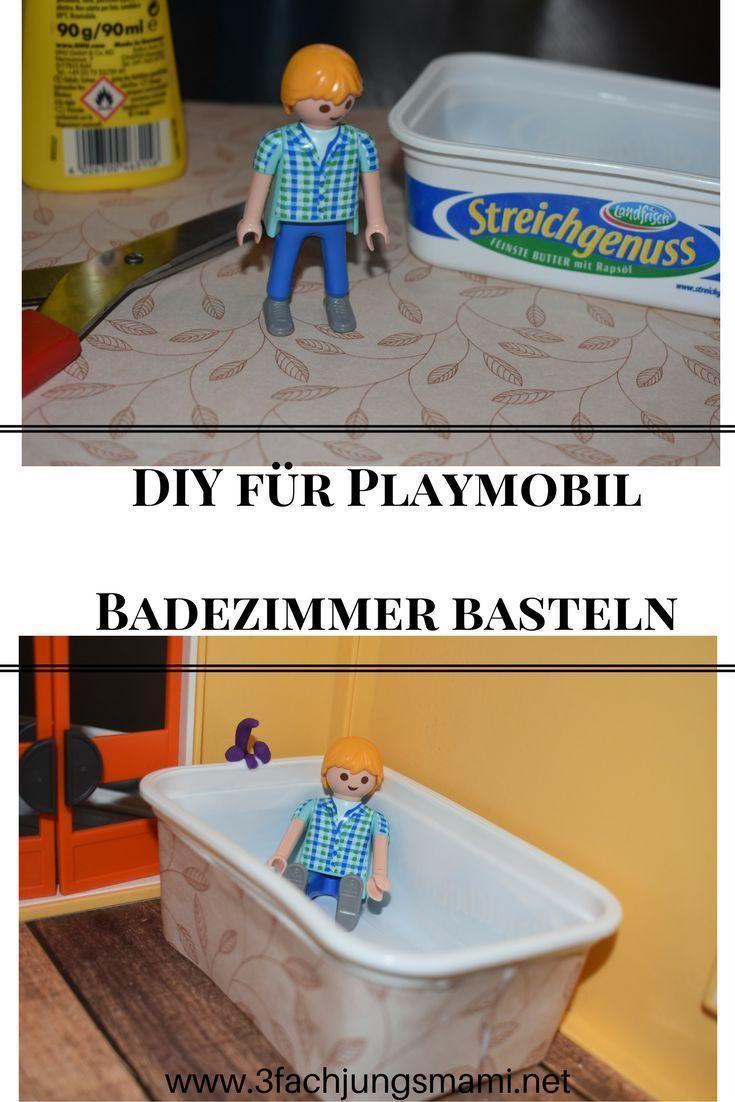 wir basteln ein badezimmer fur unsere playmobil familie playmobil diy badezimmer