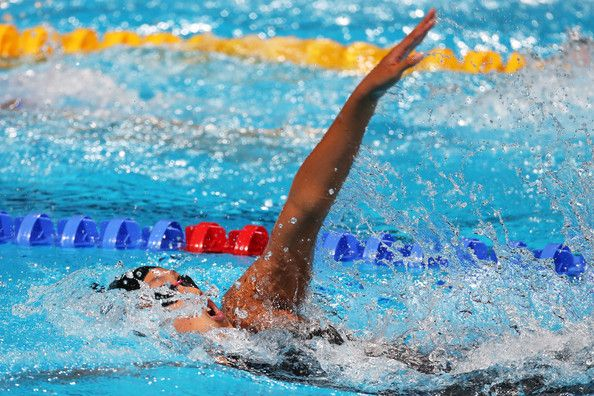 Kanako Watanabe of Japan competes during the Swimming Women's 200m Individual Medley Semifinal 2 on day nine of the 15th FINA World Championships at Palau Sant Jordi on July 28, 2013 in Barcelona, Spain.