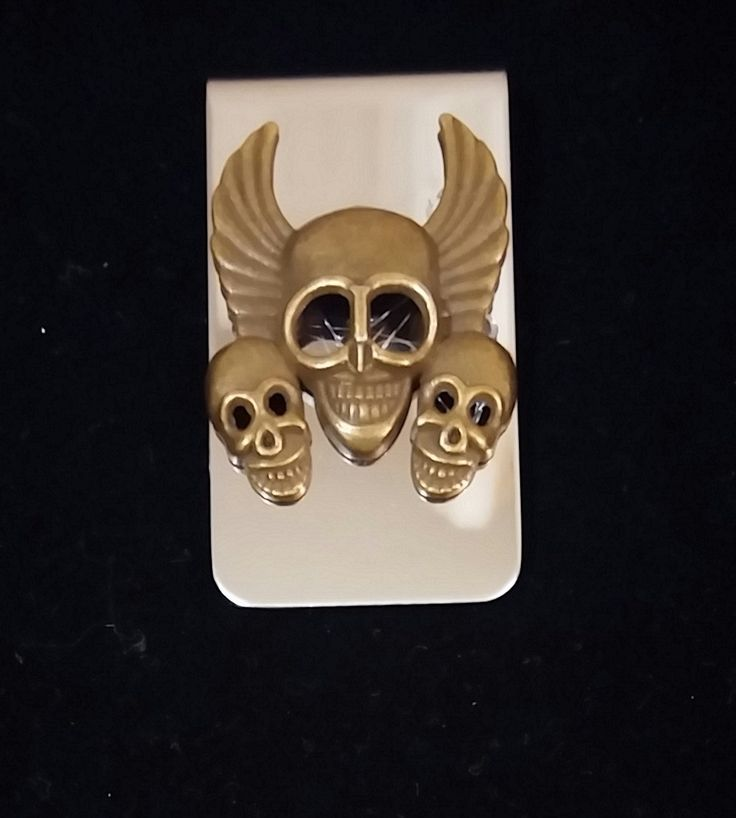 Skulls and Wings Money Clip by COOLSTUFFGOODPRICES on Etsy