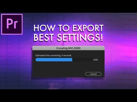 Best premiere export options
