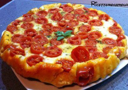 Focaccia rovesciata con i pomodorini, pizza rovesciata