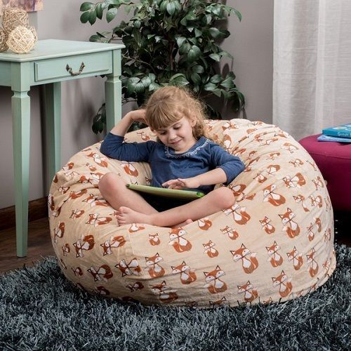 Bean Bag Chair Kids Furniture Childrens Fox Animal Bedroom Toys Foxes Decor Home #ChristopherKnightHomes