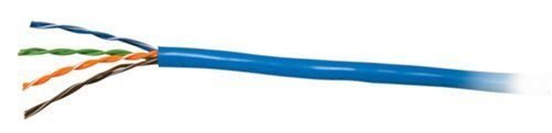 C2G / Cables to Go 27350 Cat5E UTP Solid PVC CMR-Rated Cable, Blue (1000 Feet/304.8 Meters)
