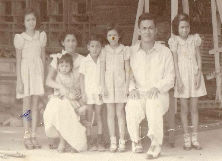 Former Dulag Mayor with his wife Rosario D. Serrano and Children Mayor Faustino A. Serrano