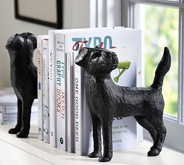 Dog Bookend, Set of 2 traditional-bookends