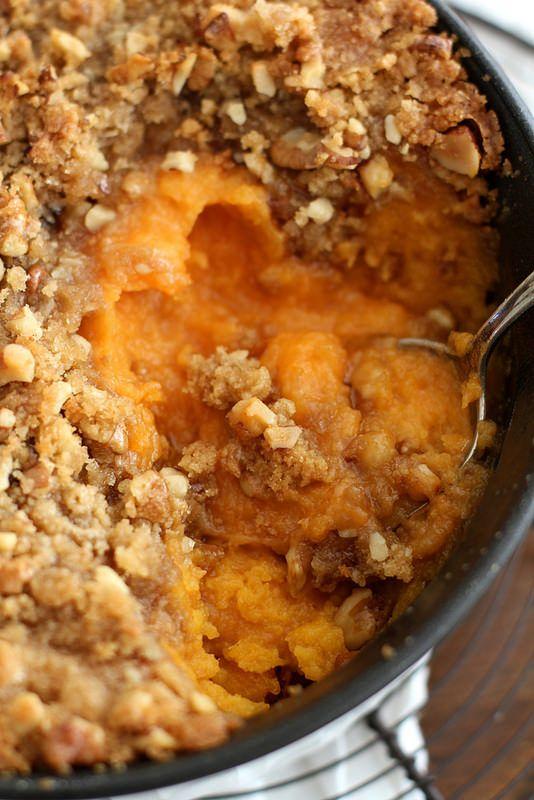 Streusel-Topped Sweet Potato Casserole | Girl Versus Dough