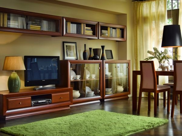 Obývacia izba - Black Red White - Largo Classic 1 Luxusná elegantná obývacia izba z masívneho dreva rozhodne zútulní vašu obývačku.
