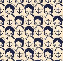 vintage nautical: Prints Patterns, Anchor Repeaters, Nautical Girls, Backgrounds Patterns, Vintage Nautical, Design, Nautical Anchor
