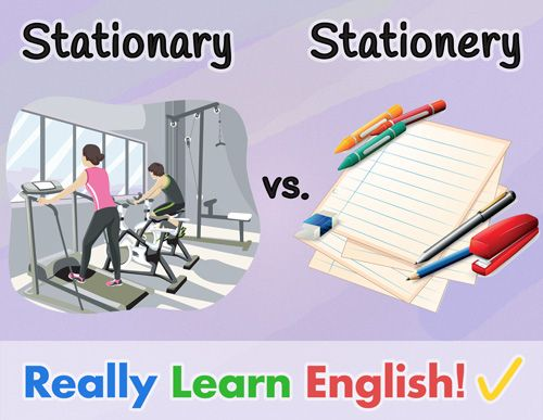 This lesson explains the difference between STATIONARY and STATIONERY: illustrations, definitions, examples, tips, practice story, final quiz, and answers. Stationary and stationery are two words that are commonly confused in the English language. Some native speakers don't even realize that there are two different spellings! After this lesson, you will be able to remember the differences in spelling and meaning between the adjective stationary and the noun stationery. ESL ELL teachers…
