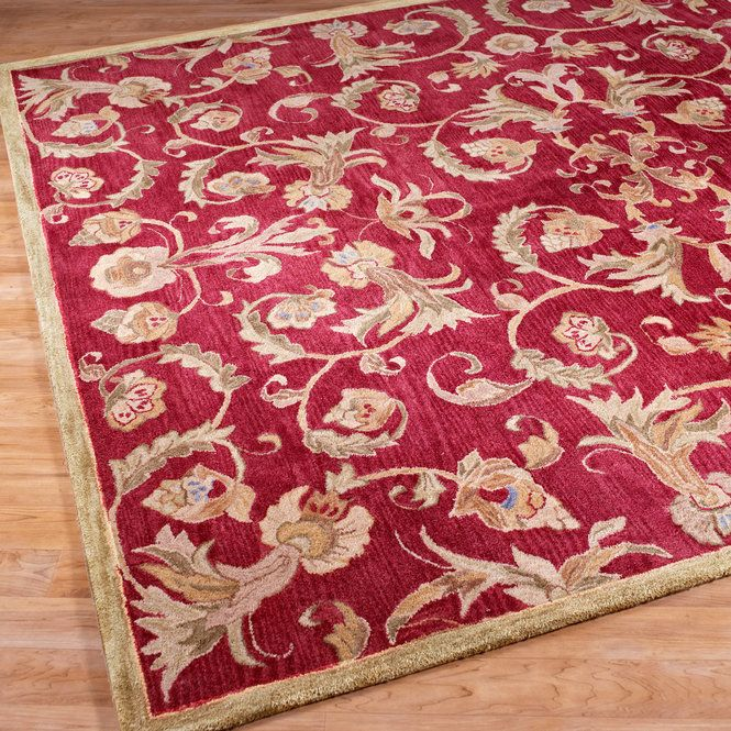 Check Out Cranberry, Sage And Antique Gold Tufted Rug From Shades Of Light
