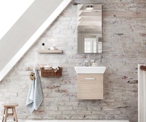 Modne meble łazienkowe w kolorze drewna