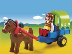Playmobil 1.2.3 Αμαξάκι Με Πόνυ (6779)- 9.99
