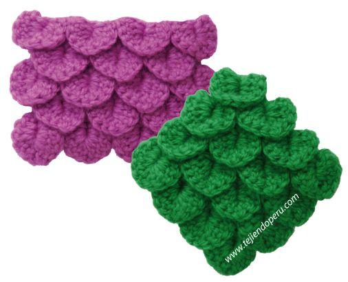 Tutorial: punto cocodrilo o escamas tejido a crochet