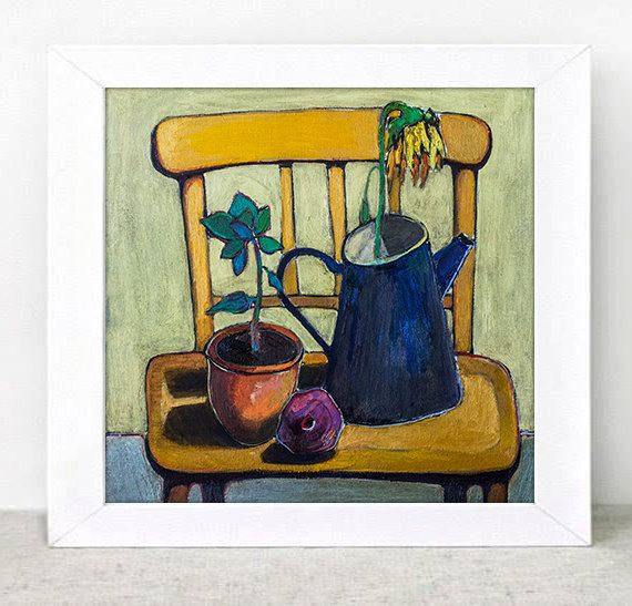 Original oil painting  still life with chair  20 x by ATTOpainting, $490.00