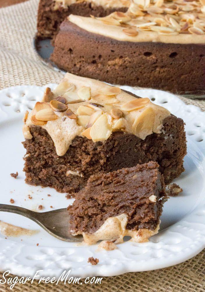 sugar free, low carb chocolate almond torte- sugarfreemom.com