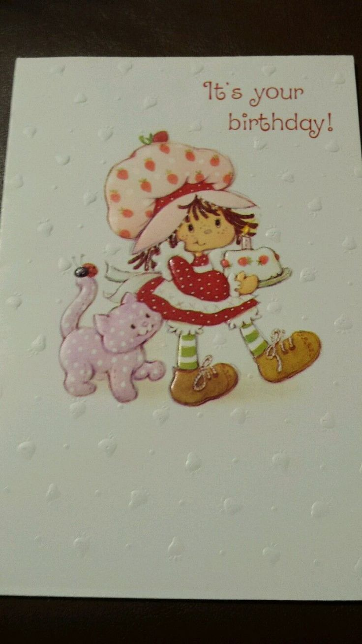 16 Best Birthday Cards Images On Pinterest Vintage Strawberry