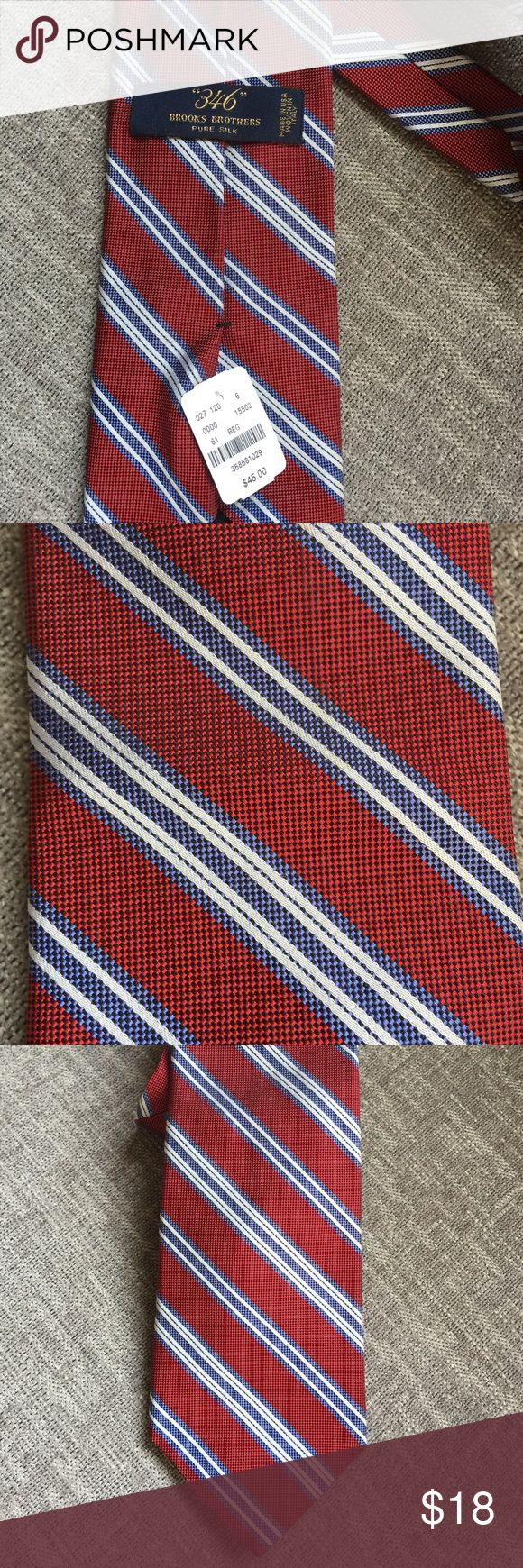 Brooks Brother Tie. NWT. Red New with tags. Brooks brothers ties. Traditional style red with blue. This one is called fire and ice. Brooks Brothers Accessories Ties
