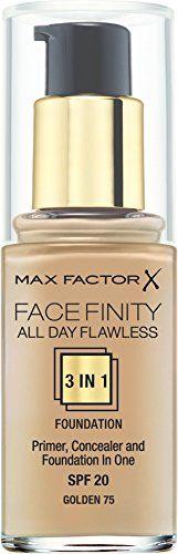 Max Factor SPF 20 Facefinity All Day Flawless 3 in 1 Foundation  https://www.amazon.com/gp/product/B009S2IMDS/ref=as_li_qf_sp_asin_il_tl?ie=UTF8&tag=rockaclothsto_kozmetika-20&camp=1789&creative=9325&linkCode=as2&creativeASIN=B009S2IMDS&linkId=b92a275e03e4239765c79df70187ab7b