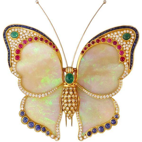 Breathtaking Opal Butterfly Pendant - Waldmann Van Lennep
