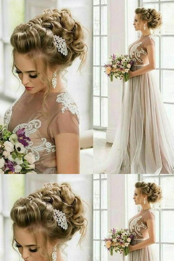 Wedding Dress Long A Line Wedding Dress Aline Wedding Dress Long Wedding Dresses Wedding Hair Inspiration Best Wedding Hairstyles Bridal Hair Inspiration