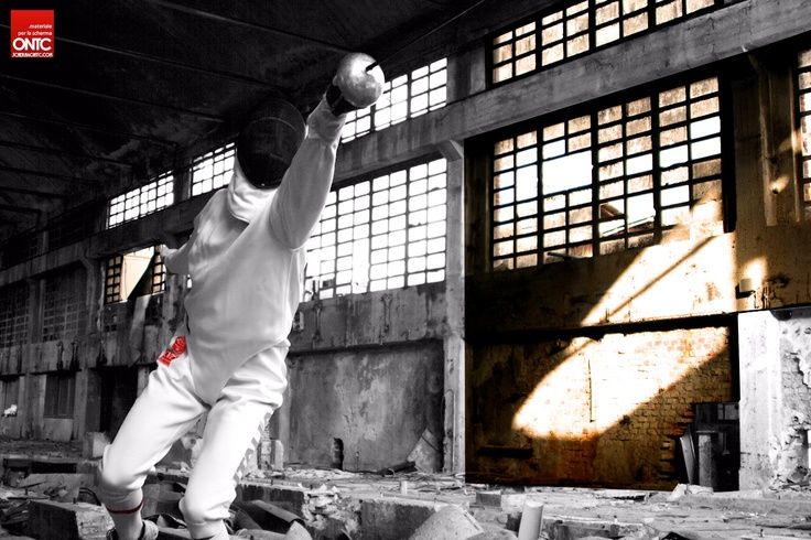 Our own produced photo session on fencing. Loved the idea to shoot it in a different environment.